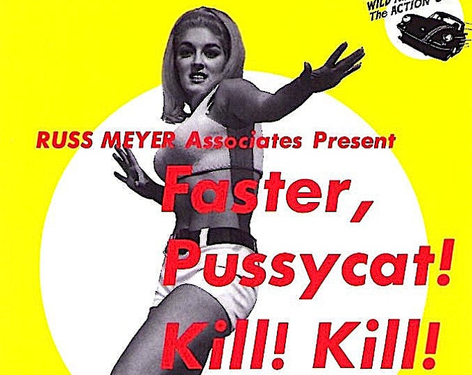 Faster Pussycat, Kill Kill (C) | 60s Cult Classic, Russ Meyer | 1994 original print | vintage Japanese chirashi film poster