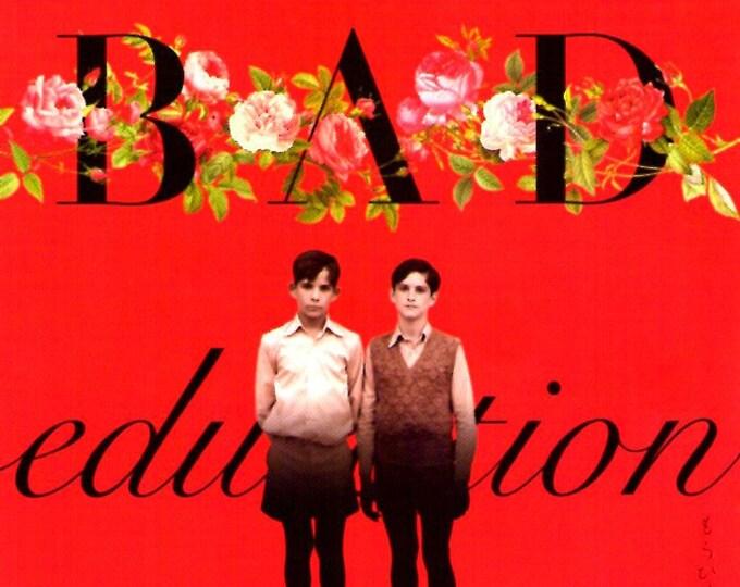 Bad Education (B) | Spanish Cinema, Gael Garcia Bernal, Pedro Almodovar | 2005 original print | Japanese chirashi film poster