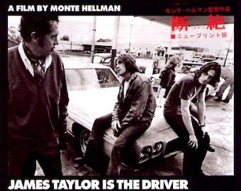 Two-Lane Blacktop (B) | 70s Cult Classic, Monte Hellman, James Taylor | 2015 print | Japanese chirashi film poster