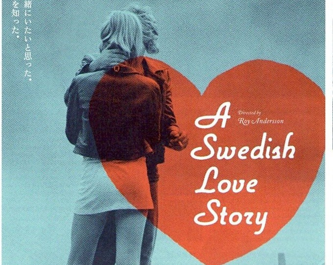A Swedish Love Story + You The Living | Swedish Cinema, Roy Andersson | 2008 print | Japanese chirashi film poster