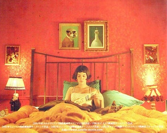 Amelie (B) | French Cinema, Audrey Tautou | 2001 original print | Japanese chirashi film poster