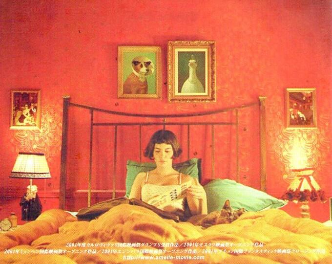 Amelie (B)   French Cinema, Audrey Tautou   2001 original print   Japanese chirashi film poster