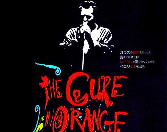 The Cure in Orange | 80s British Music Film, Robert Smith | 1989 original print | vintage Japanese chirashi film poster