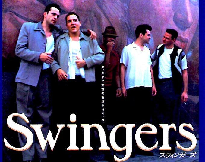 Swingers | 90s Cult Classic, Doug Liman | 1997 original print | vintage Japanese chirashi film poster