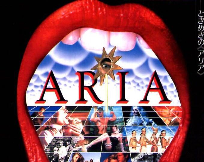 Aria   80s Classic, Godard, Roeg, Ken Russell, Altman   1987 original print   vintage Japanese chirashi film poster