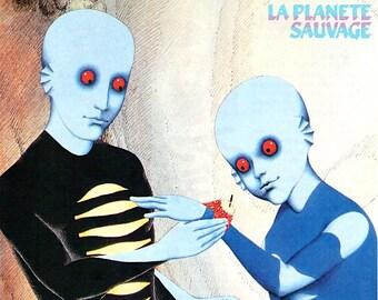 La Planete Sauvage | 70s French Animation Classic, Rene Laloux | 1997 print | vintage Japanese chirashi film poster