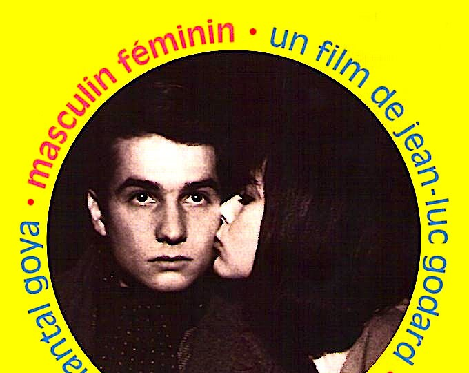 Masculin Feminin | 60s French Classic, Jean-Luc Godard, Jean-Pierre Leaud | 1998 print | vintage Japanese chirashi film poster