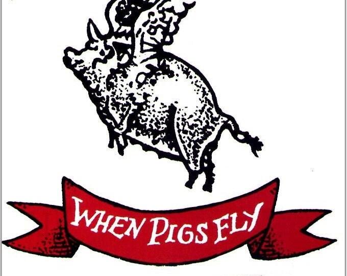 When Pigs Fly | 90s US Cinema, Marianne Faithfull, Sara Driver | 1994 original print | vintage Japanese chirashi film poster