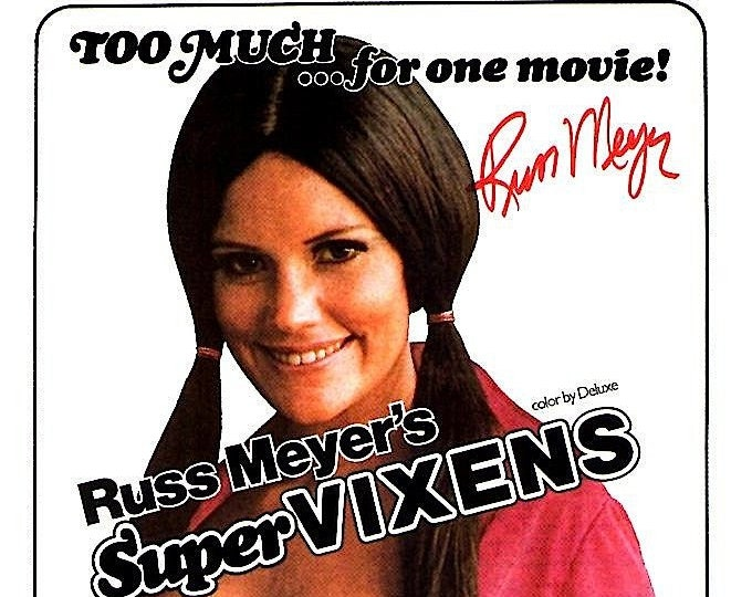 Supervixens | 70s Cult Classic, Russ Meyer | 1996 print | vintage Japanese chirashi film poster