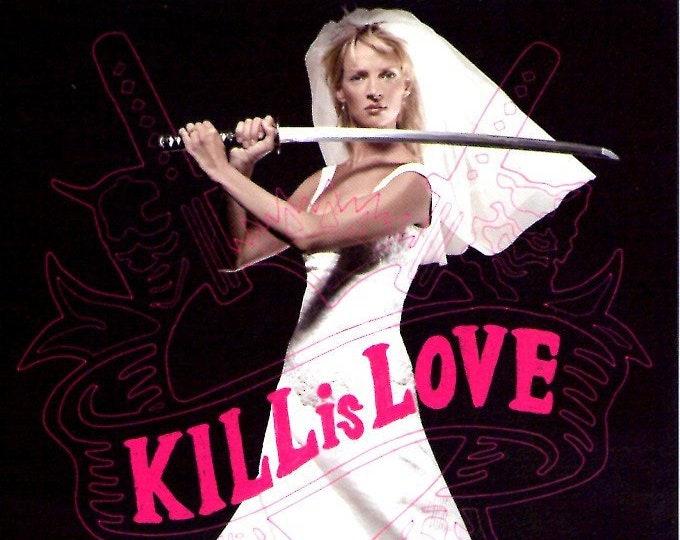 Kill Bill 2 (A) | Cult Classic, Quentin Tarantino, Uma Thurman | 2004 original print | Japanese chirashi film poster