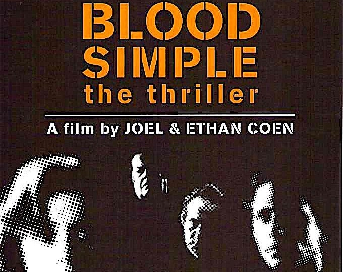 Blood Simple Redux (A) | 80s Cult Classic, Coen Brothers | 2000 print | Japanese chirashi film poster