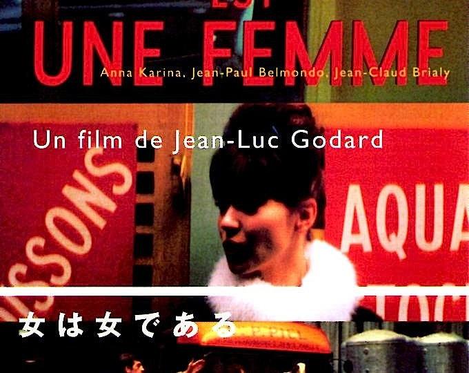 A Woman Is A Woman | 60s Anna Karina, Jean-Luc Godard | 1997 print | vintage Japanese chirashi film poster
