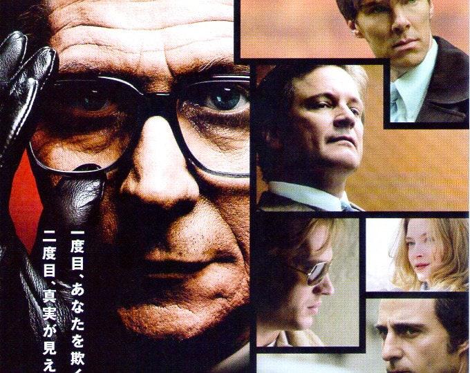Tinker Tailor Soldier Spy   British Spy Cinema, Gary Oldman   2012 original print   Japanese chirashi film poster