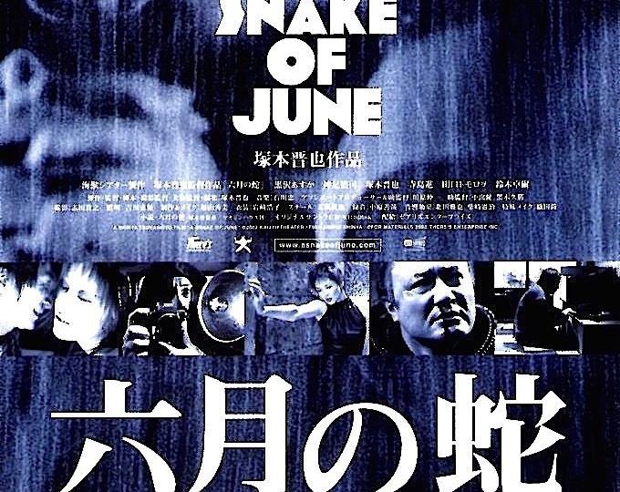A Snake of June | Japan Cult Classic, Shinya Tsukamoto | 2003 original print | Japanese chirashi film poster