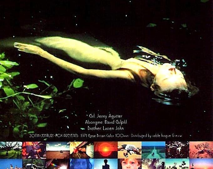 Walkabout (B) | 70s British Classic, Nicolas Roeg, Jenny Agutter | 2004 print | Japanese chirashi film poster