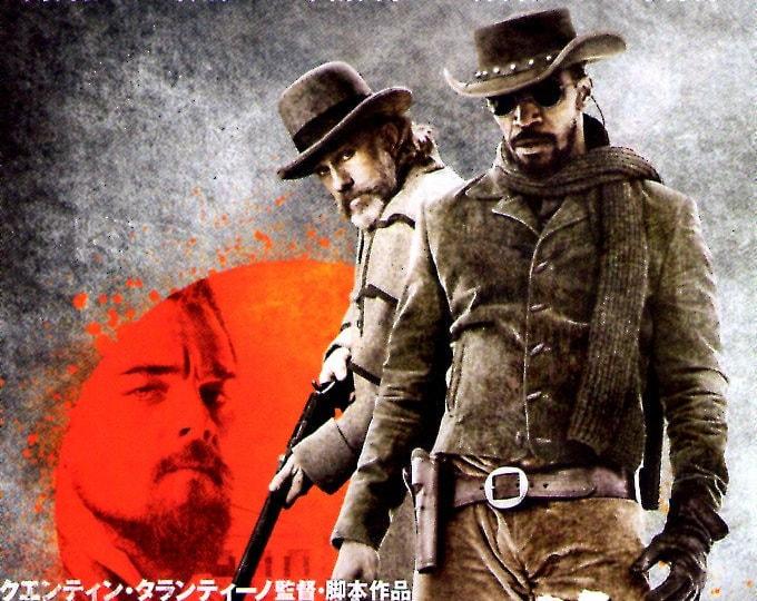 Django Unchained (A)   Quentin Tarantino   2013 original print   Japanese chirashi film poster