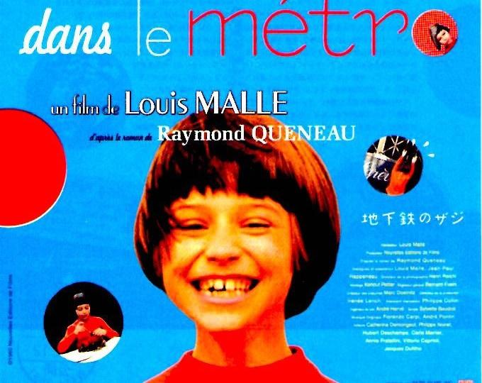Zazie dans le metro | 60s French Classic, Louis Malle | 2009 print | Japanese chirashi film poster