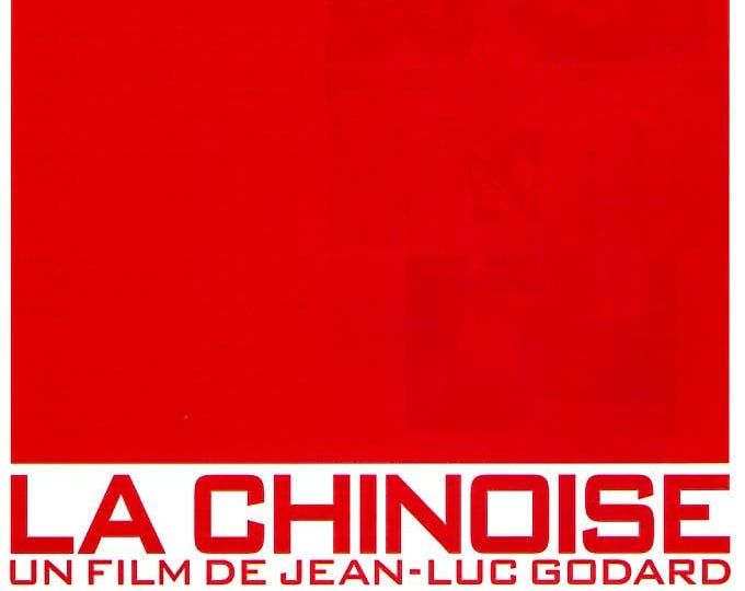 La chinoise | 60s French Classic, Jean-Luc Godard | 1998 print | vintage Japanese chirashi film poster