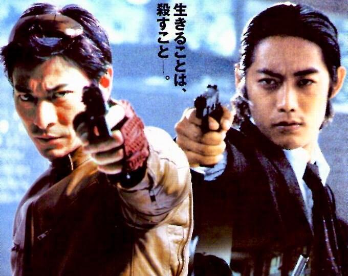 Fulltime Killer   Hong Kong Action, Andy Lau   2004 original print   Japanese chirashi film poster
