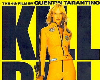 Kill Bill (B) | Cult Classic, Quentin Tarantino, Uma Thurman | 2003 original print | Japanese chirashi film poster