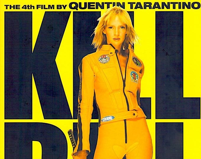 Kill Bill (B)   Cult Classic, Quentin Tarantino, Uma Thurman   2003 original print   Japanese chirashi film poster