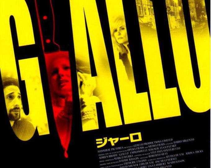 Giallo | Dario Argento, Adrien Brody | 2010 original print | Japanese chirashi film poster