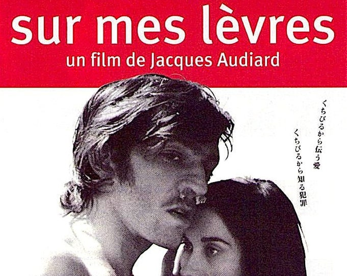 Read My Lips | French Cinema, Jacques Audiard, Vincent Cassel | 2003 original print | Japanese chirashi film poster