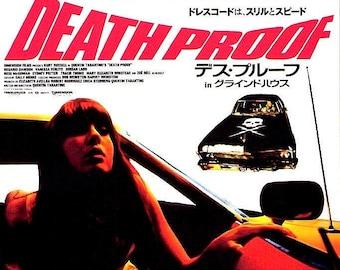 Death Proof + Planet Terror | Quentin Tarantino, Robert Rodriguez | 2007 print, foldout | Japanese chirashi film poster