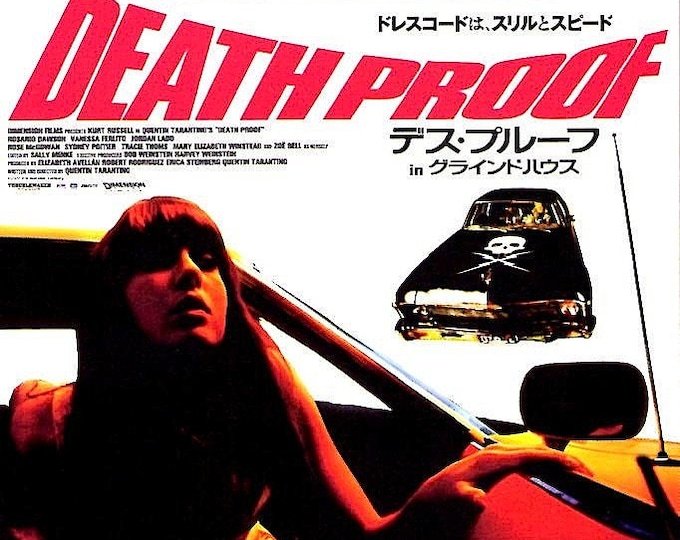 Death Proof + Planet Terror | Quentin Tarantino, Robert Rodriguez | 2007 print, foldout | Japanese chirashi film poster