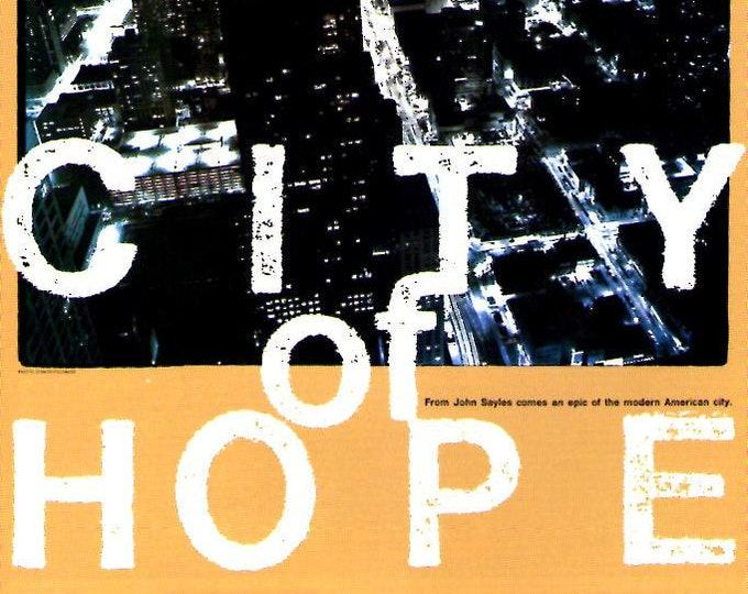 City of Hope | 90s Independent, John Sayles | 1992 original print | vintage Japanese chirashi film poster