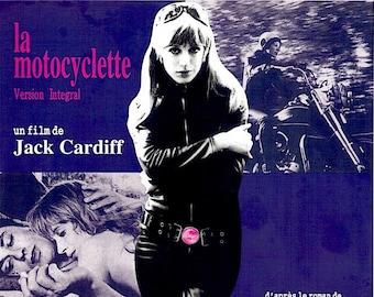 Girl on a Motorcycle (A) | 60s Classic, Marianne Faithfull, Alain Delon | 1997 print | Japanese chirashi film poster