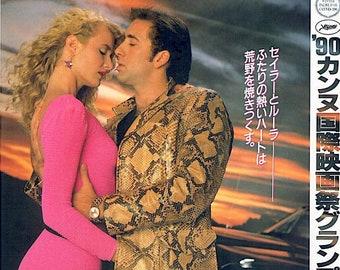 Wild At Heart | David Lynch 90s Cult Classic, Nicolas Cage, Laura Dern | 1991 print | vintage Japanese chirashi film poster