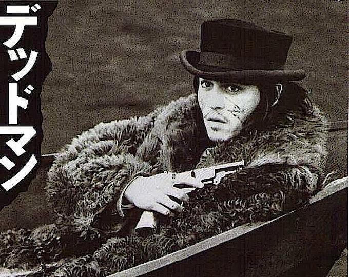 Dead Man | 90s Cult Classic, Johnny Depp, Jim Jarmusch | 1996 original print | vintage Japanese chirashi film poster