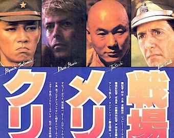 Merry Christmas Mr Lawrence (A) | 80s Japan Cinema, David Bowie, Takeshi Kitano | 1983 original print | Japanese chirashi film poster