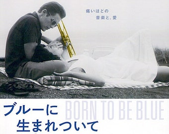 Born to Be Blue | Chet Baker Film, Ethan Hawke | 2016 original print | Japanese chirashi film poster
