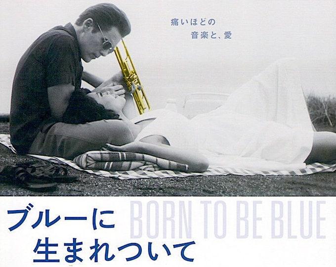 Born to Be Blue   Chet Baker Film, Ethan Hawke   2016 original print   Japanese chirashi film poster