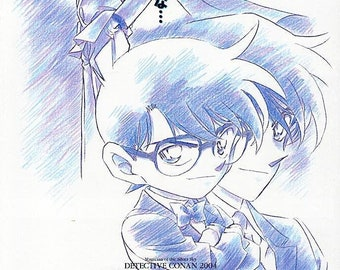 Case Closed: Magician of the Silver Sky (B) | Japan Anime Series | 2004 original print | Japanese chirashi film poster