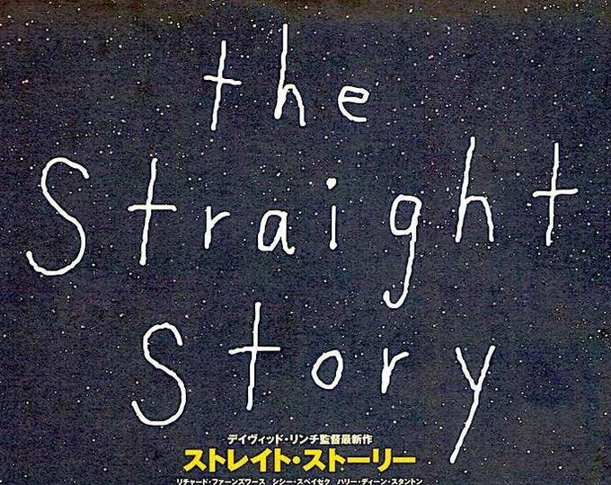 The Straight Story | 90s David Lynch Classic, Richard Farnsworth |  2000 original print | Japanese chirashi film poster