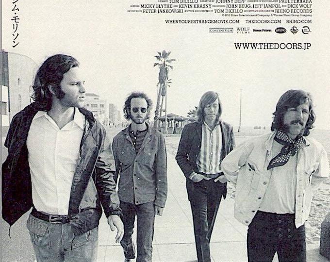 When You're Strange   The Doors Documentary, Tom DiCillo   2010 original print   Japanese chirashi film poster