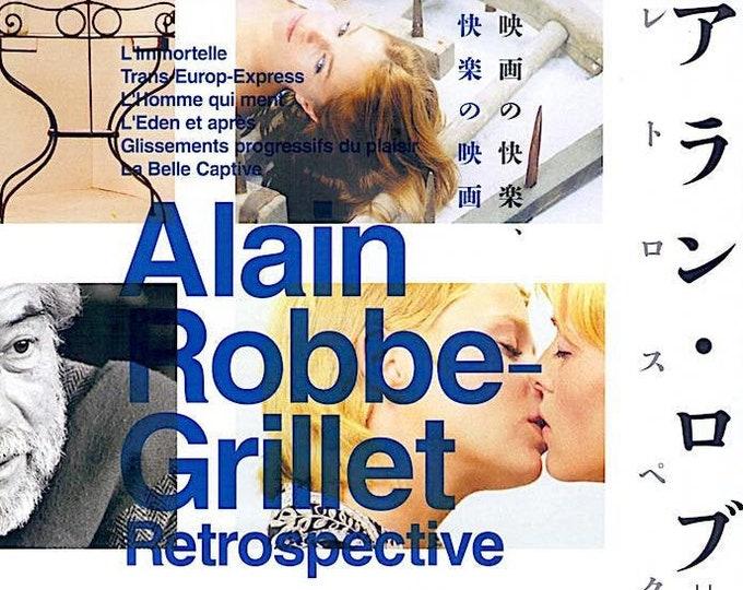 Alain Robbe-Grillet Retrospective (B) | French Nouveau Roman | 2018 print, gatefold | Japanese chirashi film poster