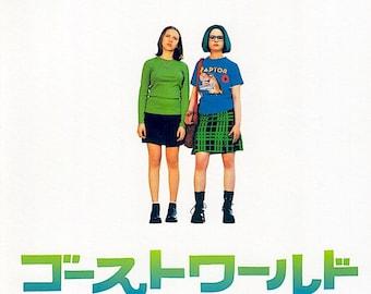 Ghost World | American Cult Classic, Thora Birch, Scarlett Johansson | 2001 original print | Japanese chirashi film poster