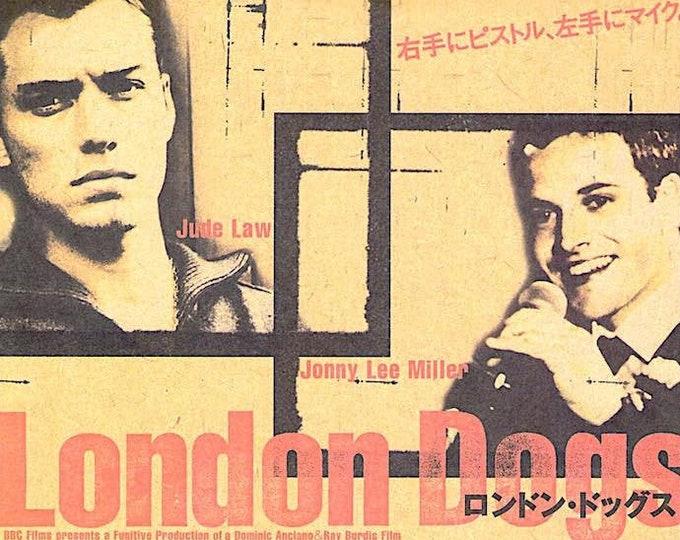 Love, Honour and Obey | British Cinema, Jonny Lee Miller, Jude Law | 2001 original print | Japanese chirashi film poster