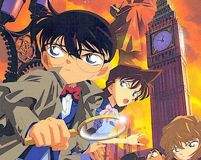 Case Closed: Phantom of Baker Street | Japan Anime Series | 2002 original print | Japanese chirashi film poster