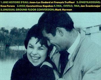 Une Histoire d'eau | Jean-Luc Godard, François Truffaut | 50s French Cinema | 1994 print | vintage Japanese chirashi film poster