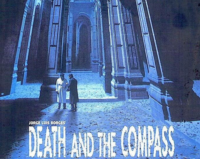 Death and Compass | 90s Classic, Peter Boyle, Alex Cox | 1997 original print | vintage Japanese chirashi film poster