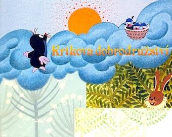Krtek / Mole | Czech Animation Classic, Zdeněk Miler | 2002 print | Japanese chirashi film poster