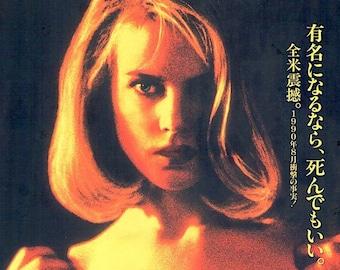 To Die For | 90s Gus Van Sant, Nicole Kidman | 1997 original print | vintage Japanese chirashi film poster
