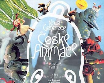 Nova Generace Ceske Animace (A) | Czech Animation, Jan Balej | 2002 print | Japanese chirashi film poster