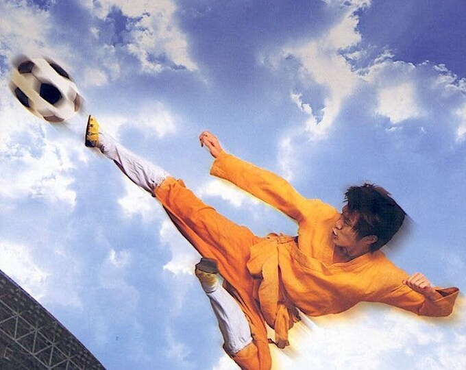 Shaolin Soccer | Hong Kong Cinema, Stephen Chow | 2002 original print | Japanese chirashi film poster
