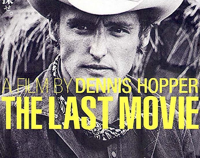 Last Movie (A) | 70s American Cinema, Dennis Hopper | 2019 print | Japanese chirashi film poster